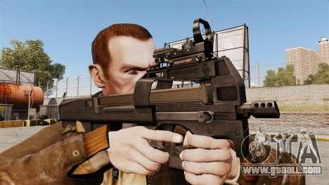 FN P90 submachine gun for GTA 4 third screenshot