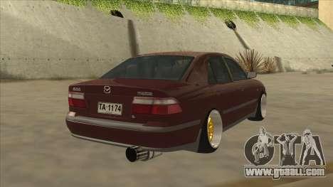 Mazda 626 Hellaflush for GTA San Andreas back left view