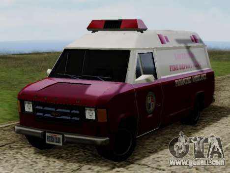 Vapid Ambulance 1986 for GTA San Andreas right view