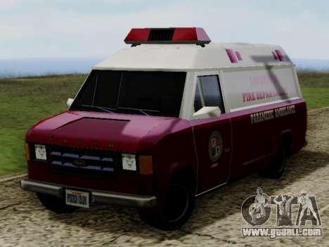 Vapid Ambulance 1986 for GTA San Andreas right view