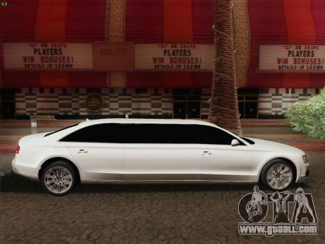 Audi A8 Limousine for GTA San Andreas side view