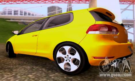 Volkswagen Golf 6 GTI for GTA San Andreas back view