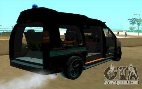 GMC Savana AWD FSB for GTA San Andreas upper view