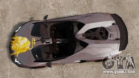 Lamborghini Aventador J Big Lambo for GTA 4 right view