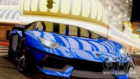 Lamborghini Aventador LP760-2 2013 for GTA San Andreas inner view