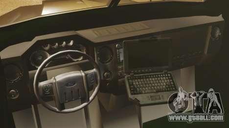 Lenco Bearcat Armored LSPD GTA V for GTA 4 inner view