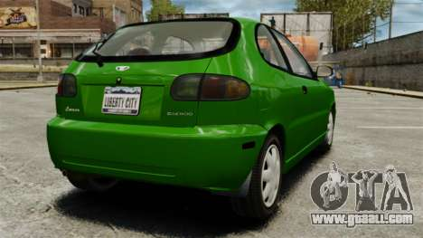 Daewoo Lanos FL 2001 US for GTA 4 right view