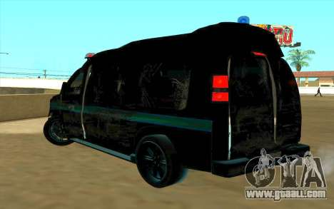 GMC Savana AWD FSB for GTA San Andreas back view