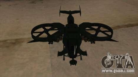 AT-99 Scorpion Gunship from Avatar for GTA San Andreas inner view