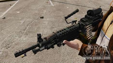 Light machine gun M249 SAW for GTA 4 forth screenshot