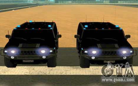 Hummer H2 for GTA San Andreas upper view