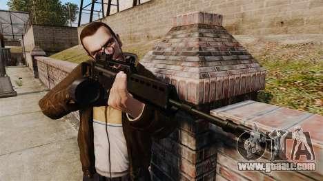 MG36 v4 H&K assault rifle for GTA 4 third screenshot