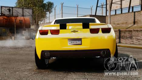 Chevrolet Camaro Bumblebee for GTA 4 back left view