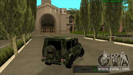 Mercedes-Benz G65 Camo for GTA San Andreas back view