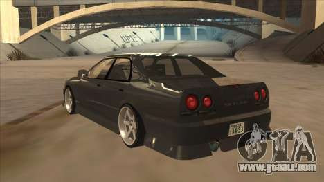 Nissan Skyline ER34 Street Style for GTA San Andreas back view