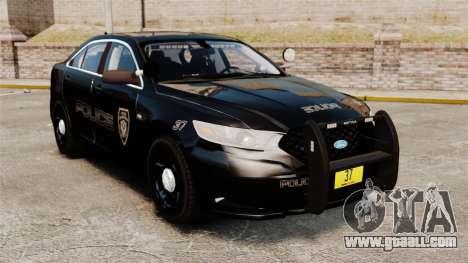 Ford Taurus Police Interceptor 2013 LCPD [ELS] for GTA 4