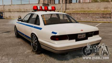 Police on a 20-inch drives for GTA 4 back left view