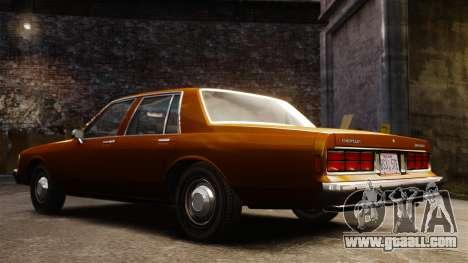Chevrolet Caprice 1989 for GTA 4 inner view