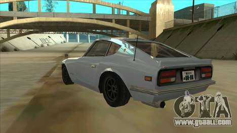 Nissan Fairlady S30Z for GTA San Andreas back view