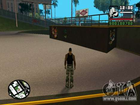 New BMX Park v1.0 for GTA San Andreas sixth screenshot