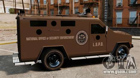 Lenco Bearcat Armored LSPD GTA V for GTA 4 left view