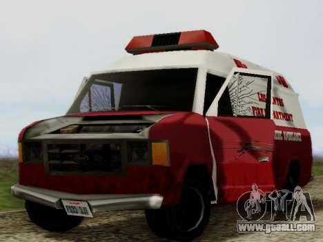Vapid Ambulance 1986 for GTA San Andreas inner view