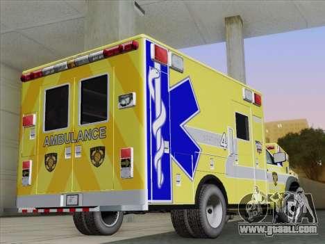 Dodge Ram Ambulance BCFD Paramedic 100 for GTA San Andreas right view