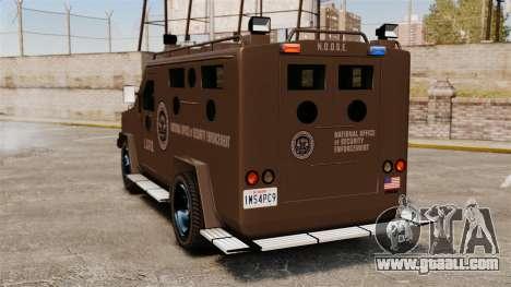 Lenco Bearcat Armored LSPD GTA V for GTA 4 back left view