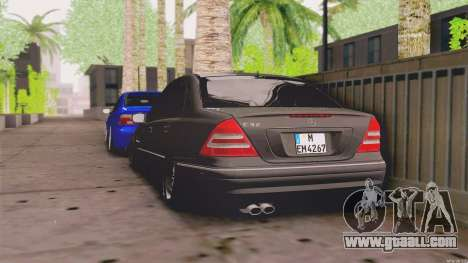 Mercedes-Benz C32 AMG for GTA San Andreas back left view