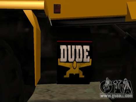 New Dumper for GTA San Andreas inner view