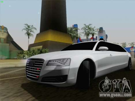 Audi A8 Limousine for GTA San Andreas back left view