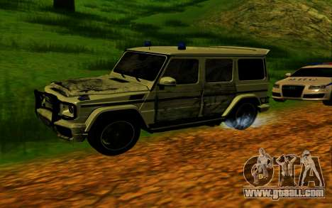 Mercedes-Benz G65 AMG 2013 for GTA San Andreas bottom view