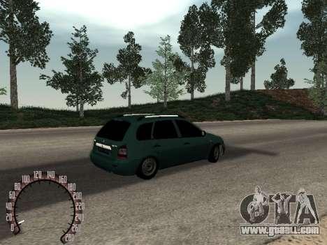 Lada 1117 Kalina for GTA San Andreas back view