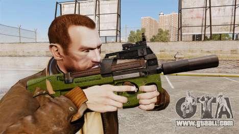 Belgian FN P90 submachine gun v2 for GTA 4