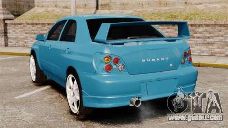 Subaru Impreza for GTA 4 back left view