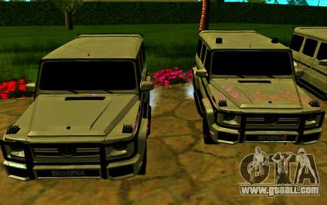 Mercedes-Benz G65 AMG 2013 for GTA San Andreas engine