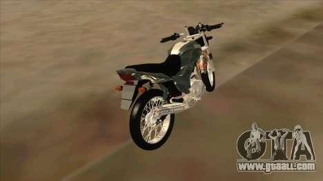 Yamaha YBR for GTA San Andreas back left view