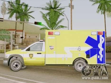 Dodge Ram Ambulance BCFD Paramedic 100 for GTA San Andreas inner view