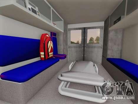 Dodge Ram Ambulance BCFD Paramedic 100 for GTA San Andreas interior