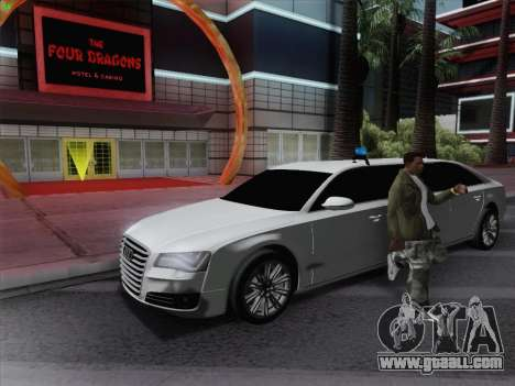 Audi A8 Limousine for GTA San Andreas left view