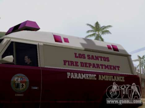 Vapid Ambulance 1986 for GTA San Andreas back left view