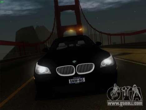 BMW M5 Hamann for GTA San Andreas interior
