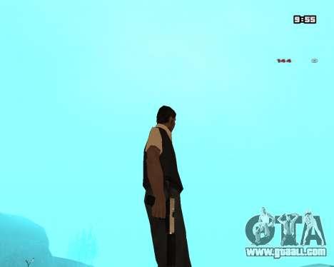 White Chrome Silenced for GTA San Andreas third screenshot