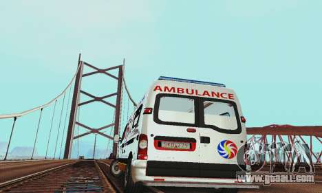Renault Master PCSO AMBULANCE for GTA San Andreas back view