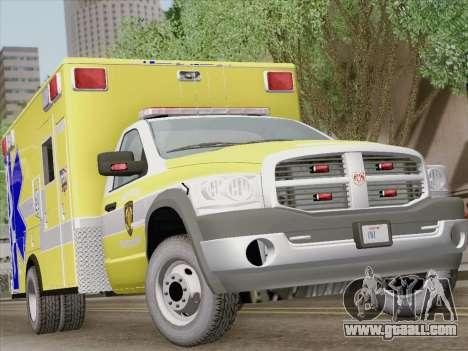 Dodge Ram Ambulance BCFD Paramedic 100 for GTA San Andreas
