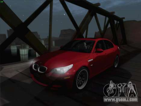 BMW M5 Hamann for GTA San Andreas upper view