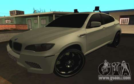 BMW x 6 M with flashing lights PPP for GTA San Andreas left view