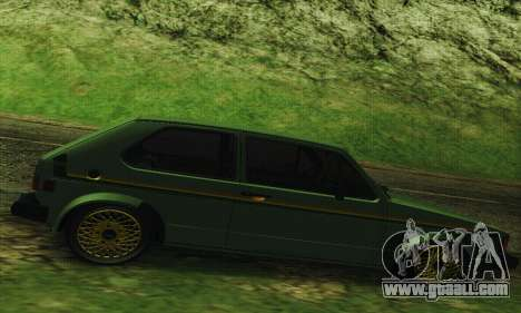 Volkswagen Rabbit GTI 1986 Cult Style for GTA San Andreas left view