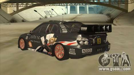 Subaru Impreza WRC Itasha for GTA San Andreas back view