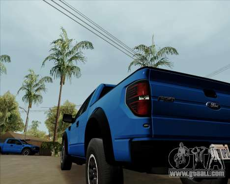 Ford F-150 SVT Raptor 2011 for GTA San Andreas right view